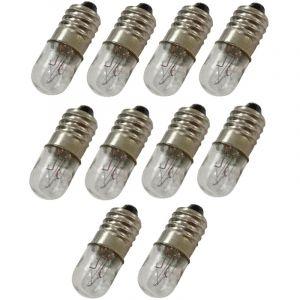 Aerzetix : 10x Ampoules E10 12V 4W C17605