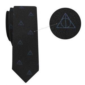 Cinereplicas Réplique cravate deluxe avec pin's Les Reliques de la Mort Harry Potter Taille Unique