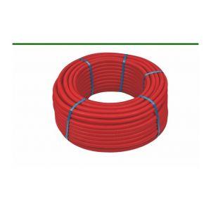 Henco 25M Tube multicouche pré-gainé rouge - Ø32x3,0