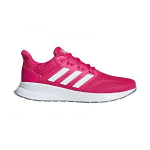 Adidas Falcon, Chaussures de Running Femme, Rouge Real Magenta/FTWR White/Grey Three f17, 40 2/3 EU
