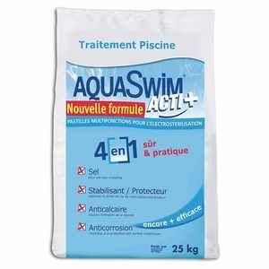 Aquaswim Sel piscine pour électrolyse Acti + 4-en-1 sac 25 kg