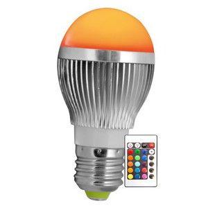 Lumihome Ampoule LED Ronde E27 RGB 5W avec télécommande