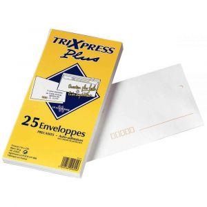 La couronne Enveloppe blanche DL 110x220 80G bande siliconnée - Paquet de 25