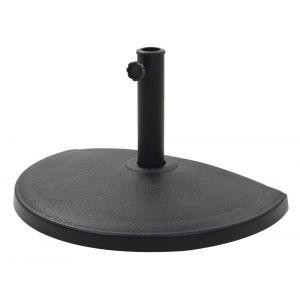 Pied socle demi rond de parasol résine diamètre 38 et 48 mm 15 kg noir