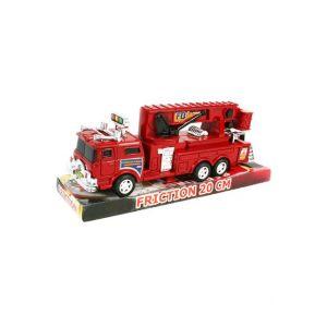Camion de pompier 20 cm rétro-friction