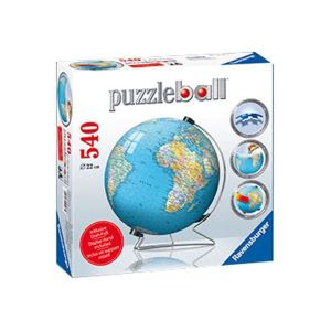 Ravensburger Mappemonde en Anglais - PuzzleBall 540 pièces