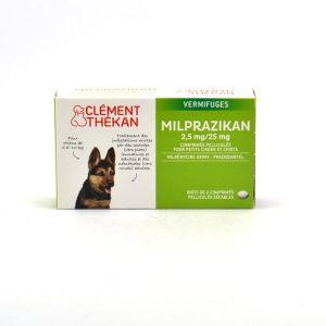 Clément Thékan Milprazikan 2,5 mg/25 mg pour petits chiens