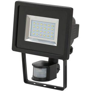 Brennenstuhl Lampe SMD-LED L DN 2405 PIR IP44 avec détecteur de mouvements infrarouge 24x0,5W 950lm noir Catégorie rendement énergétique A