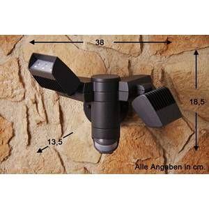 Lutec Applique extérieure CORN LED Anthracite, 6 lumières