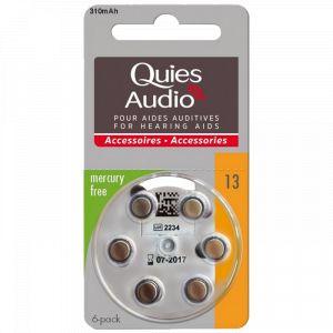 Quies Piles auditives Modèle 13 - Pack de 6