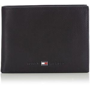 Tommy Hilfiger Portefeuille JOHNSON CC AND COIN POCKET Noir - Taille Unique