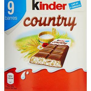 Kinder Country 9 Barres au Chocolat au Lait/Céréales 211,5 g