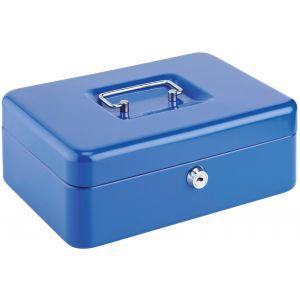 Decayeux Coffret à monnaie métallique Bleu Dimensions 250 mm x 88 mm x 200 mm