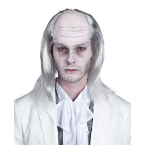 Perruque zombie cheveux blanc