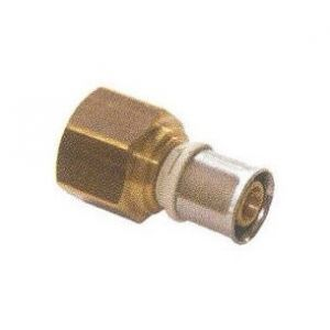Pb Tub Raccord femelle fixe pour tube multicouches - Diamètre : 16 - 1/2