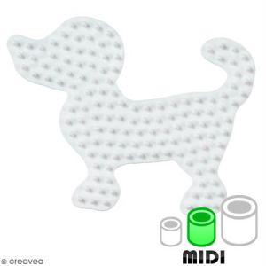 Hama Plaque pour perles à repasser Midi : Petit chien
