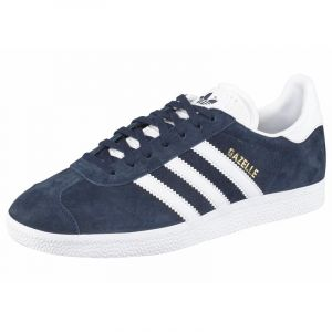 Adidas Gazelle, Sneakers Basses Mixte Adulte - Bleu -(Collegiate Navy/White/Gold Met),EU 37 1/3