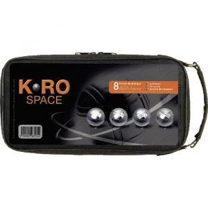 Absis SA K-Ro Space - 8 boules de pétanque + sacoche
