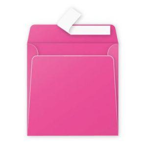 Clairefontaine 55573C - Boîte de 200 enveloppes Pollen 165x165, 120 g/m², coloris fuchsia