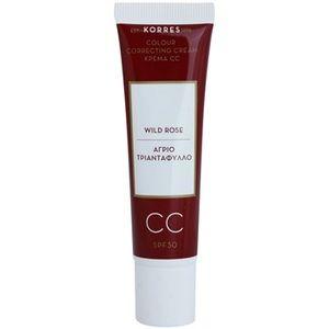 Korres Face Wild Rose CC crème illuminatrice SPF 30
