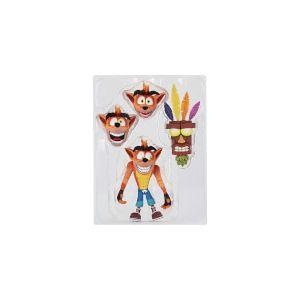 Neca Crash Bandicoot Ultra Deluxe Figure Crash et Aku Aku 15cm [Goodies]