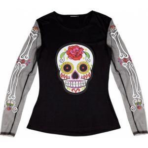 Widmann T-Shirt Squelette coloré Femme Dia de Los Muertos Taille Unique