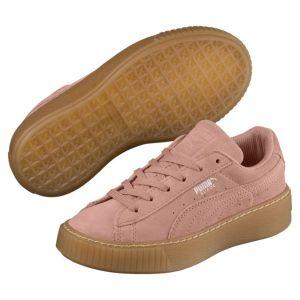 Puma Suede Platform Jewel PS, Sneakers Basses Mixte Enfant, Beige (Peach Beige-Peach Beige), 33 EU