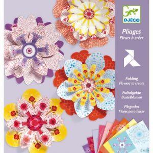 Djeco Set papiers créatifs Fleurs à créer
