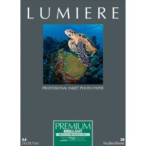 Lumiere Premium brillant - 20 feuilles - Papier photo A4