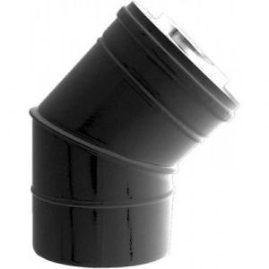 Ten Coude concentrique BIOTEN 45° inox/galva Ø80/125