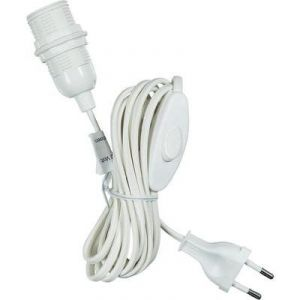 Saico Alimentation secteur de lampe avec interrupteur 4m E14