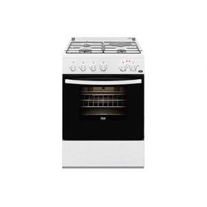 Faure FCM640HCWA - Cuisinière mixte 3 foyers gaz avec four électrique