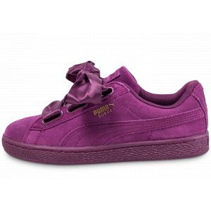 Puma Suede Heart Satin II, Sneakers Basses Femme, Violet (Dark Purple-Dark Purple), 39 EU