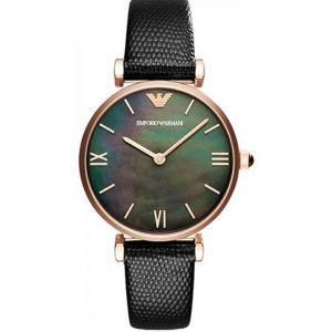 Emporio Armani AR11060 - Montre pour femme avec bracelet en cuir