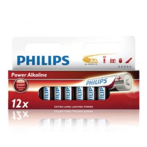 Philips 12 piles alcalines AA LR06 1.5V Powerlife