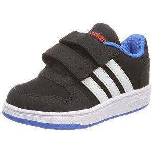 Adidas Hoops 2.0 CMF I, Chaussures de Fitness Mixte Enfant, Noir (Negbas/Ftwbla/Azubri 000), 23 EU