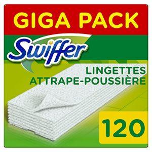 Swiffer Recharges Lingettes Sèches pour Balai Attrape-Poussière - 120 lingettes (3x40)