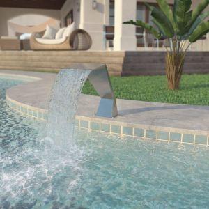 VidaXL Fontaine d'étang Acier inoxydable 64 x 30 52 cm Argenté