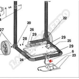 Procopi 1012010 - Pied de calage/accrochage de câble de Patriote