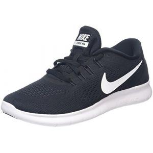 Nike WMNS Free RN, Chaussures de Running Entrainement Femme, Noir (Black/White/Anthracite), 35.5 EU