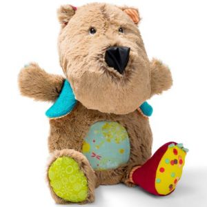 Lilliputiens Peluche musicale et lumineuse César l'ours brun