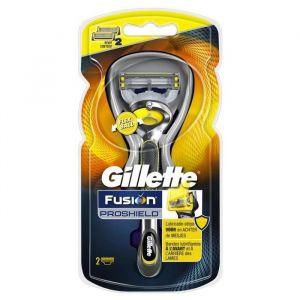 Gillette Fusion ProShield -Flexball - Rasoir et 2 recharges