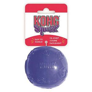 Kong Squeezz Balle Jouet Interactif pour Chien Taille L
