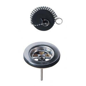 Wirquin Bonde évier Ø60 mm à bouchon en laiton Pro 30720427