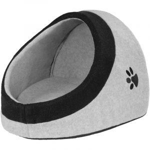 TecTake Panier Dôme Niche pour Chat Chien avec Coussin Confortable Gris Taille L