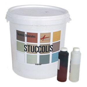 Arcane industries Mortier + teinte - stucco (sans primaire ni finition) - STUCCOLIS Mortier + teinte | Gris soie - kit jusqu'à 7m²