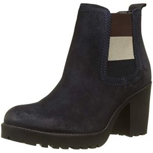 Tommy Jeans Hilfiger Denim Essential Mid Heel Boot, Bottes Chelsea Femme, Bleu (Midnight 403), 39 EU