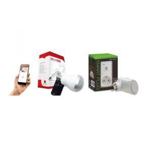 New Deal Pack de prise connectée WiFi Speco+ et ampoule musicale ZicLed W11