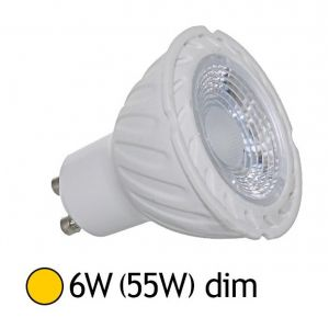 Vision-El Spot Led 6W (60W) dimmable GU10 blanc chaud 2700°K