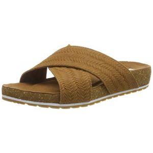 Timberland Women´s Malibu Waves Cross Slide - Sandales de marche taille 6,5, brun/beige/orange